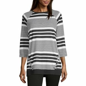 NWT Liz Claiborne Striped Tunic XL Firm Price